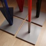 Tuinbord accessoir - Onder pinnen voetstuk