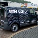 Vervoersreclame busje - De Giessen