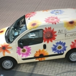 Carwrapping - Art flowers