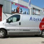Vervoersreclame busje - Albeka