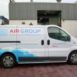 Vervoersreclame busje - Air Group