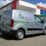 Vervoersreclame busje - AB