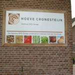 Entreebord - Hoeve Cronensteijn