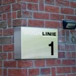 Entreeplaat RVS - Woonlinie