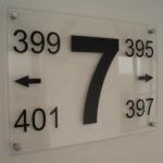 Etageborden - huisnummers