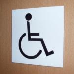 Bewegwijzeringsbord - Voor rolstoel geschikt