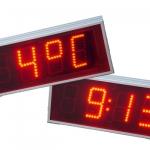 Led display - met graden en tijd