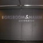 RVS ingegoten LED letters - Borsboom