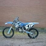 Vervoersreclame motor - Crossmotor blauw