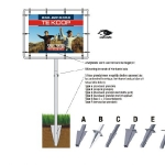 Tuinbord frame Spanline - easysign v5 printversie