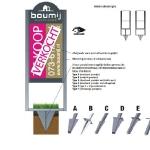 Tuinbord frame Twinline - easysign v5 printversie