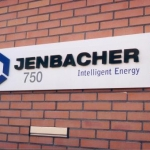 Uitgefreesde letters - Jenbacher
