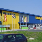 Vlag met mast - Ikea