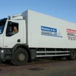 Vervoersreclame vrachtwagen - Huisma & Zn