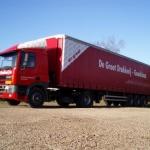 Vervoersreclame vrachtwagen - De Groot