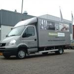 Vervoersreclame vrachtwagen - Slaapkenner