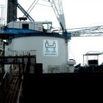 Zeefdruk en digitaal druk - Jack-up Barge stickers