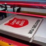 Zeefdruk en digitaal druk - Leger des heils sticker